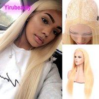 Menschliches Haar Capless Perücken Brasilianisches reines Haar 613 # Farbe seidig Gerade 13x6 Perücken T-förmige Perücke Blondine T 13x6 Perücken