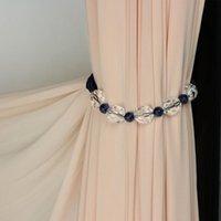 1 unid moderno simple cortina vendaje estilo coreano cuentas de cristal Tiebacks para cortinas con cortina de imán Accesorios decorativos H JLLRP