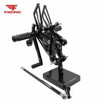 YZF R125 MT125 2008-2013 için Pedallar Ayarlanabilir Alüminyum Motosiklet Rearset Footrest Footpeg Arka Set Ayak Pegs 1