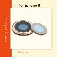 Lente de câmera original para iPhone 8 8g traseira traseira safira de cristal lente de câmera de vidro com moldura de metal