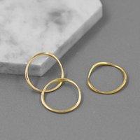 Cluster Anéis Inature Tempo de Lazer 925 Sterling Silver para Mulheres Simples geométrico redondo redondo anel de dedo empilhável