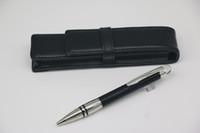 Penna a sfera di alta qualità Penna a sfera Top Black Down Corpo in argento con coperchio di cristallo Lattice Acciaio inossidabile Acciaio inossidabile Trim