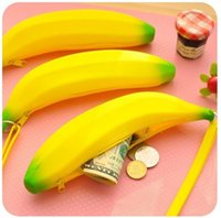 Silicone Banana small purse Banana coin Pencil Case Wallet bag purse bag key Keychain Cosmetic Jewelry Gifts Waterproof