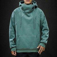 Sweats à capuche Homme Sweatshirts High Collier Couleur Solid Couleur Fashion Casual Sportswear Automne et hiver Lover Veste sauvage