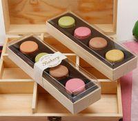 Beau Macaron Boîte d'emballage Boîte De Mariage Dessert 4 Pack Gâteau Stockage Biscuits Boîte à gâteaux Décoration de gâteau Accessoires de cuisson VT1888