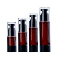 15 30 50 100 ml Vuoto Amber Airless Pump Pump Bottiglia Plastica Pompe di Viaggio Pompe Container / Airless Lotion Atomizer Dispenser Spray cosmetico