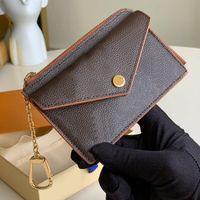 Concepteur de luxe marque carte de crédit portefeuille porte-monnaie porte-monnaie porte-clés classique brun de fleur lettre imprimé 3D embossé femme femme femme portefeuille clé pont