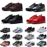 Obsidian tn plus 3 III Männer Laufschuhe tn3 dreifach weiß schwarz hyper og USA Neon Crimson Red Michigan Herren Trainer Sport Turnschuhe Nike Air Max TN plus Airmax