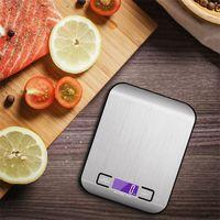 5000g / 1g LED Balanzas de cocina digital electrónicas multifunción Escala de alimentos de acero inoxidable de acero inoxidable Precisión de precisión Peso Balan 10 L2