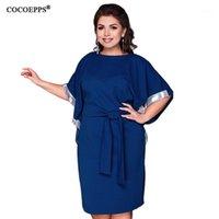 COCOEPPS Plus Size Donne Casual Casual Sleeve Abiti Abiti da cintura Abiti eleganti Abbigliamento allentato di grandi dimensioni Abito solido Abbigliamento da donna Abbigliamento da donna1