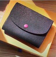 Designer WHXK Accessoires Cartão de Couro Moeda Moeda Moeda Victorine Pochette Carteira Emilie Real Rosalie com Sarah Womens Compact Key Box Aqks