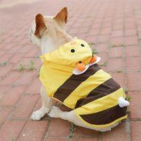 Perro impermeable amarillo beed lindo pequeño cachorro capa lluvia para perros grandes ropa mascota impermeable francés bulldog lluvia abrigos xs-7xl manto 201028