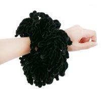 1 ADET Kadın Müslüman Büküm Şapkalar Scrunchie Başörtüsü Saç Bantları Kravat Volumlaştırma Moda Büyük Saç Halkası Düz Elastik Eşarp Kızlar1