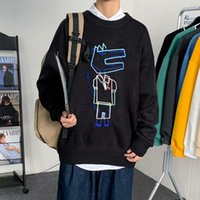 Moda Triko Erkekler Streetwear Hip Hop Sonbahar Yeni Pull Üzeri Spandex O-boyun Oversize Çift Casual Erkekler Kazaklar