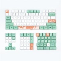 Clavier mécanique keycaps menthe lait original profil de cerisier 128 clés compatible cerise mx kailh gateron commutateurs1