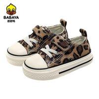 Babaya Baby Girl Shoes Autumn Autunno Low-Cut Leopard Pattern Moda Bambini selvatici Ragazze Baby Casual Canvas Scarpe da 1-3 anni 201130