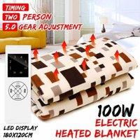 Aquecedores eléctricos inteligentes 220V Thermostat Automatic Thermostat Throw Cobertor 180x120cm Body Double Body Bed Bed Colchão Tapetes aquecidos Mat1