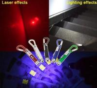 الصمام سلسلة مفتاح المصباح مشاعل مصغرة 3 in1 الصمام ضوء الليزر مؤشر البسيطة الشعلة مضيا سلسلة المفاتيح للكشف عن المال الخفيفة