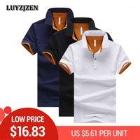 Atacado Camisa Homens Casual Marca Roupas Negócios Masculino Respirável Moda Poloshirt New Summer Polos Algodão Para Hombre 491