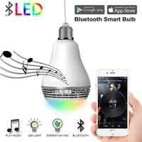 2021 nouveau E27 RVB Smart Bluetooth Smart Bluetooth 4.0 Haut-parleur audio Dimmable Musique colorée LED ampoule VIA sur l'application WiFi Control BSBT