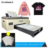 erasmart 직접 필름 프린터 DTF 인쇄 기계 열전달 패브릭 천으로 용 티셔츠를위한 PET 필름 프린터