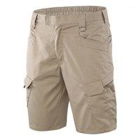 Calções ao ar livre de verão dos homens Caminhadas Shorts multi-bolso esportes de treinamento de treinamento de ciclismo khaki l1