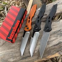 Cuchillo plegable KERSHAW 7650 multifuncional EDC -Tool CPM-154 / Cuchillo Damasco Aviación Handillo de aluminio al aire libre Cuchillo de caza