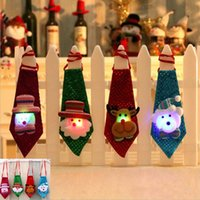 Led Luminous Necktie Christmas Tree Ornament Children Adult ...