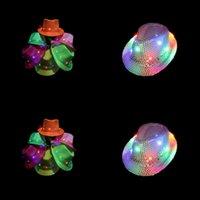 Flash Jazz Hat Ligins Caps Unisex Etapa Danza Rendimiento Brillante Sombreros Bardian Multi Colors Fashion Novedad Artículos 9 ZJ II