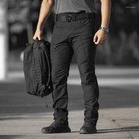 Мужские брюки Pavehawk IX5 бегагинг мужчины уличные одежды грузовой мужской одежды Зеленый черный брюк Jogger Army Tactical 2XL1