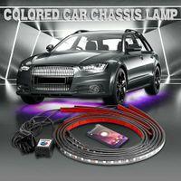 سيارة Underglow مرنة قطاع الصمام بعد APP تحكم RGB LED قطاع ضوء النيون لتزيين أسفل سيارة