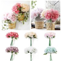 5 Head Bouquet Artificial Silk Fake Large Peony Lifelike Sim...