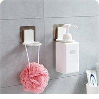 Ny Badrum Shampoo Dusch Gel Flaskhållare Hyllor Hängare Väggmonterad Stativ Sugkopp Hängande Super SUC JLLMSO
