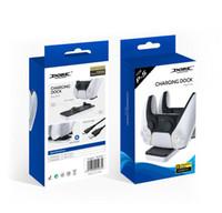 Suporte de carregamento de montagem de montagem dual carregador para o controlador sem fio Gamepad PS5 com caixa de varejo nova chegada