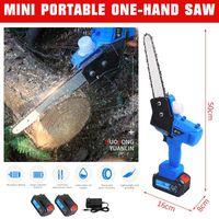 7 inch Chainsaws US EU AU Plug Mini Portable One-Hand Saw Woodworking Electric Chain Saw Wood Cutter New Garden Power Tools 550W