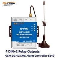 알람 시스템 Badodo GSM SMS 2G 3G 4G 원격 컨트롤러 시스템 4 DIN 2 DOUT RTU 자동화 모니터링 S140 스위치