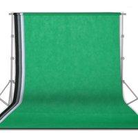 Materiale di sfondo 1.6 * 3m / 5 x 10ft Pografia Studio Non tessuto Sfondo non tessuto Verde Bianco Nero Grigio Grigio 4 Pz Solido sfondo semplice1