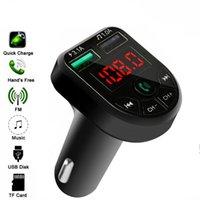 12-24V 일반 차량을위한 FM 어댑터 포트를 충전 BTE5 자동차 MP3 플레이어 블루투스 FM 송신기 Handfree 자동차 FM 변조기 듀얼 USB