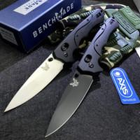Benchmade BM 615 CUCHILLO PLATABLE EDC Táctico Supervivencia Cuchillo de bolsillo S30V Blade T6061 Mango de aluminio BM535 BM940 781 Camping, Cuchillos de caza