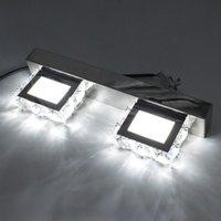 2 Işıklar Modern Su geçirmez ayna duvar ışık led banyo Sanat Dekoratif aydınlatma makyaj Kristal Aplik kristal lamba