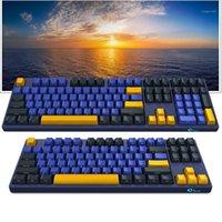 Klavyeler Orijinal Akko 3108 / 3087SP Ufuk Mekanik Oyun Klavyesi Kiraz Mx Anahtarı ile 104/87 Tuşlar PBT Bilgisayar Gamer Tip-C Kablosu1
