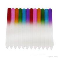 Archivos de uñas de cristal coloridos Durable Crystal File Nail Buffer Nailcare Nail Art Herramienta para manicura UV Polish Tool