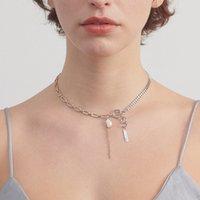 2020 nouvelle chaîne collier femme hipsters mode européenne et américaine de conception de niche perle naturelle bracelet zircon chaîne clavicule