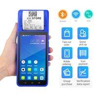 El Terminali Android PDA 58mm Termal Makbuz Yazıcı ile Cep Sipariş için Nakit Kayıtlar Bluetooth Wifi 3G System1
