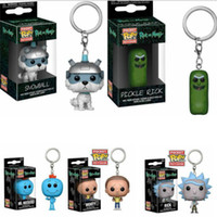 Funko pop rick poche rick keychain and morte keychain M. Meeseeks action chiffre jouets