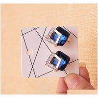 4 Größe 7 * 10 cm 6 * 6 cm 4,5 * 5 cm 4,5 * 4,5 cm Schmuck Display Karte Ohrringe Ohrstecker Halskette Verpackung Hang Tag RXB5X