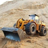 583 RC Truck 1:14 Escavatore Hobby Bulldozer in lega di ingegneria Truck Telecomando giocattoli per ragazzi Auto RC Costruzione idraulica 201209