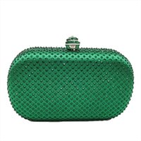 ضعف النساء كريستال مخلب حقيبة حقائب السهرة الحرير الماس حقائب الزفاف والمحافظ الأزرق الأصفر الأخضر