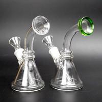 Mini Glasbongs mit 14mm Downstem 5 Zoll Kleine Bongs für trockene Kräuter Dab Rig Wasser Bongs Pipes
