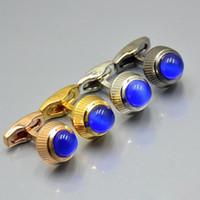 4 colori Prezzo all'ingrosso della camicia dello sposo auto gemello Affari moda gioielli Gemelli in rame collega per l'uomo regalo (No Box)